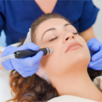 Woman getting cosmetic procedure done
